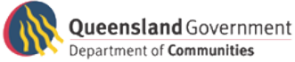 QLD Government Department of Communities Logo